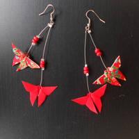 Swarm of butterflies earrings by sakuralu83
