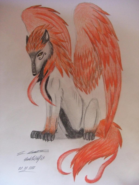 Fire-Winged wolf by ShadeTheWolf65 on DeviantArt