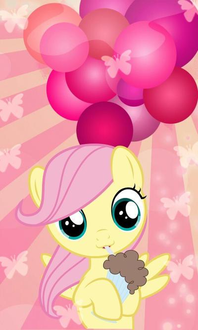Filly Fluttershy drink Milkshake by prensestwilight01 on ...