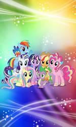 Mane 6 Rainbow power