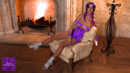 By the fireplace by cwichura