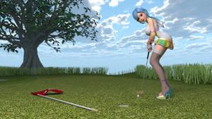 Asobi Girl at the Golf Course
