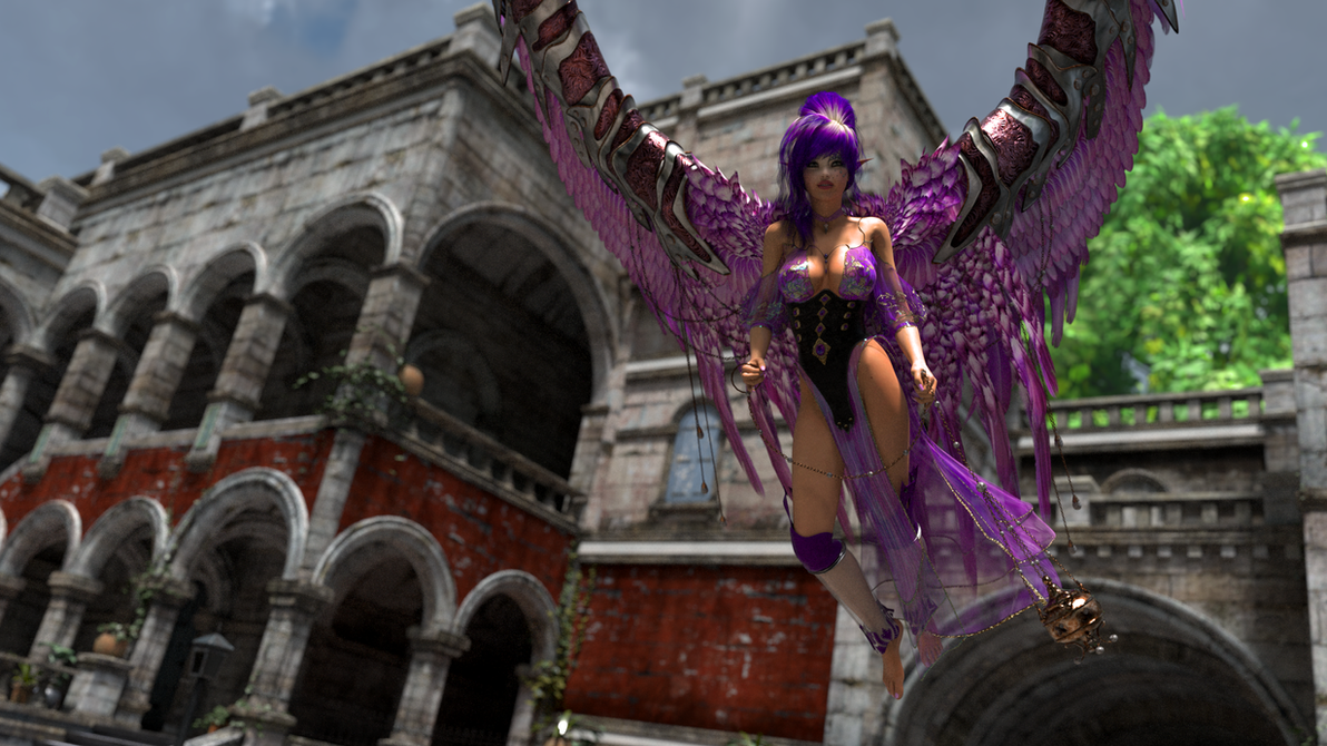 Lavender Angel by cwichura