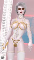 White Mistress 001 - Portrait - Closeup by cwichura