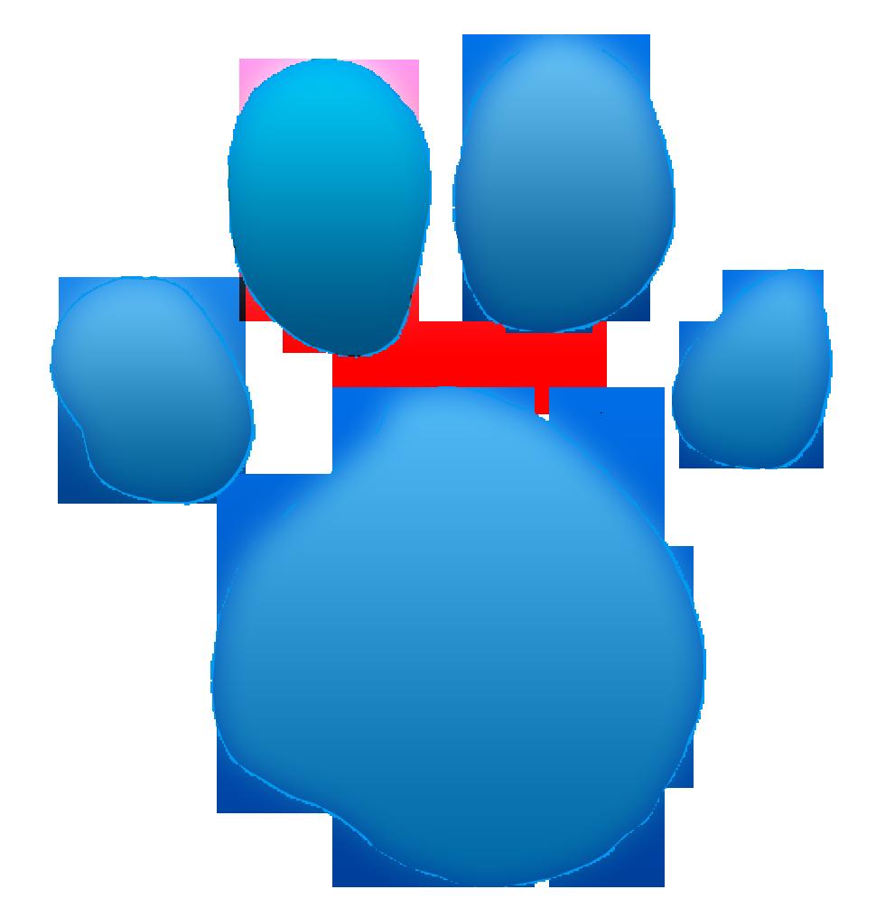 Blue's Clues light blue paw print 3D glow CS6 test by ...