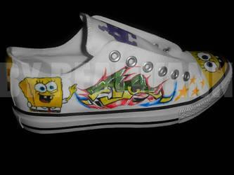 Sponge bob Converse by realwann