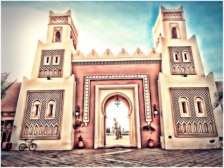 Moroccan gate - Saidia by realwann