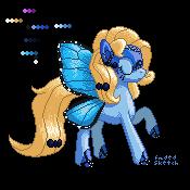 Commission: Blue Peleide Pixel Pony by FadedSketch