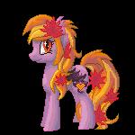 Commission: PumpkinSpice Pixel Pony by FadedSketch