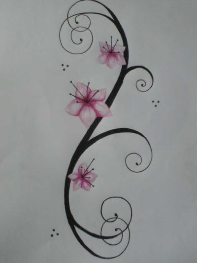 flower tattoo, preview - flower tattoo