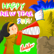 New Year 2014 StickPage Avatar by GreenMustika321