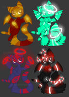 [CLOSED] Glowy Cats 60-90 points by VelenieAdopts