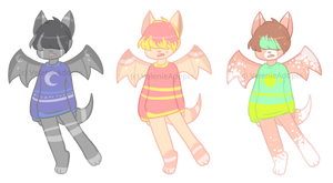 [Auction][CLOSED] Anthro bats SB 50 points by VelenieAdopts