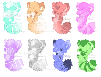 [CLOSED] Fluffy Cat Foxes 30 points by VelenieAdopts