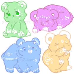 [OPEN] Fluffy Bears 30 points by VelenieAdopts