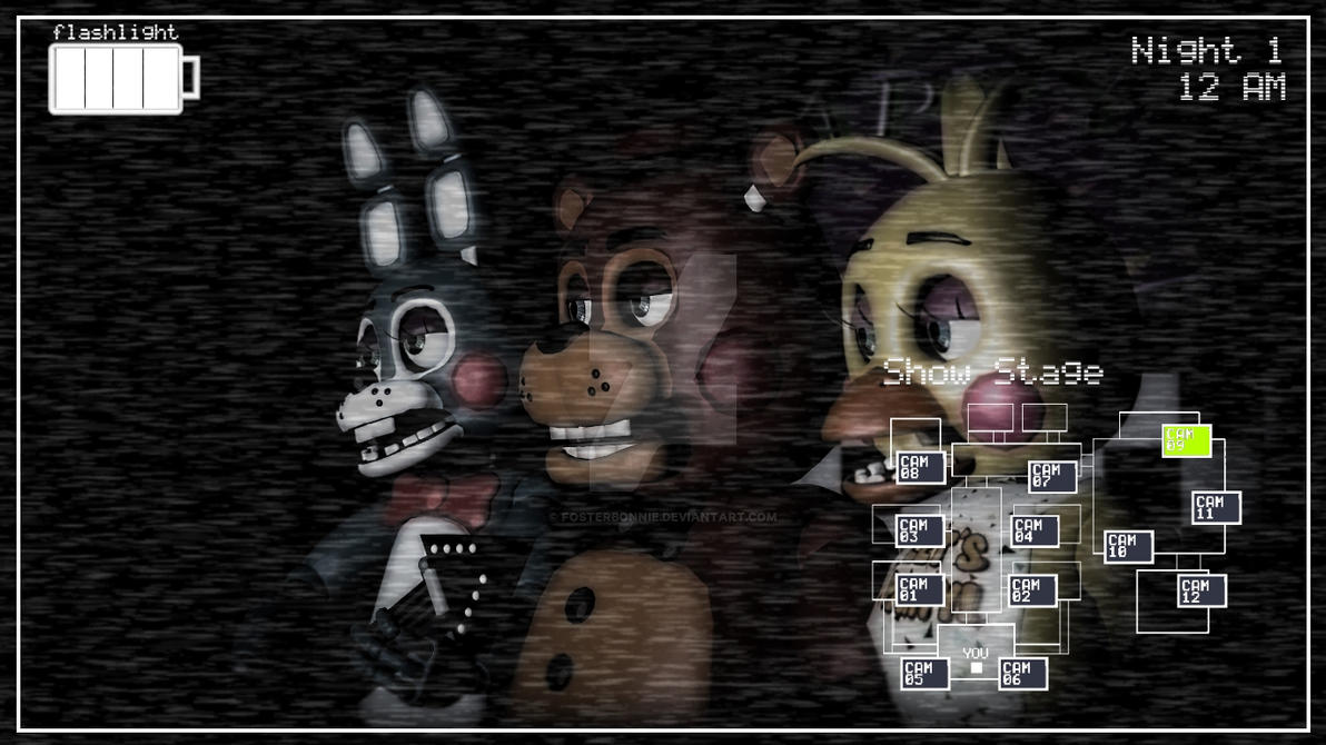 Gmod Fnaf 2 Show Stage With The Toy Animatronics By