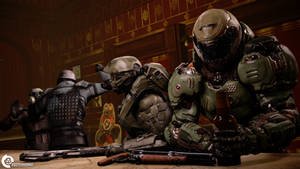 Space Marines in the Bar