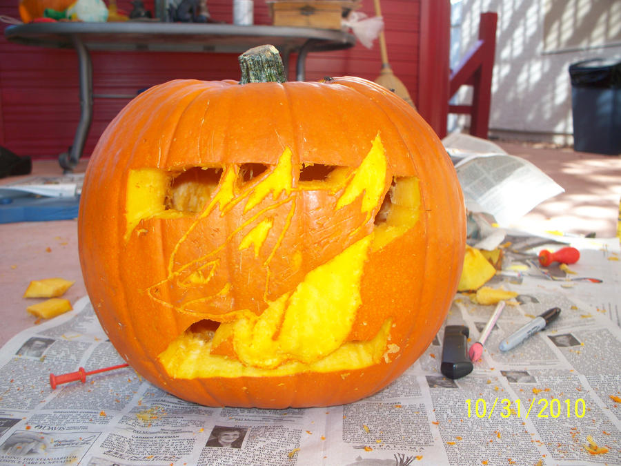 Zoroark Pumpkin by Cat333Pokemon