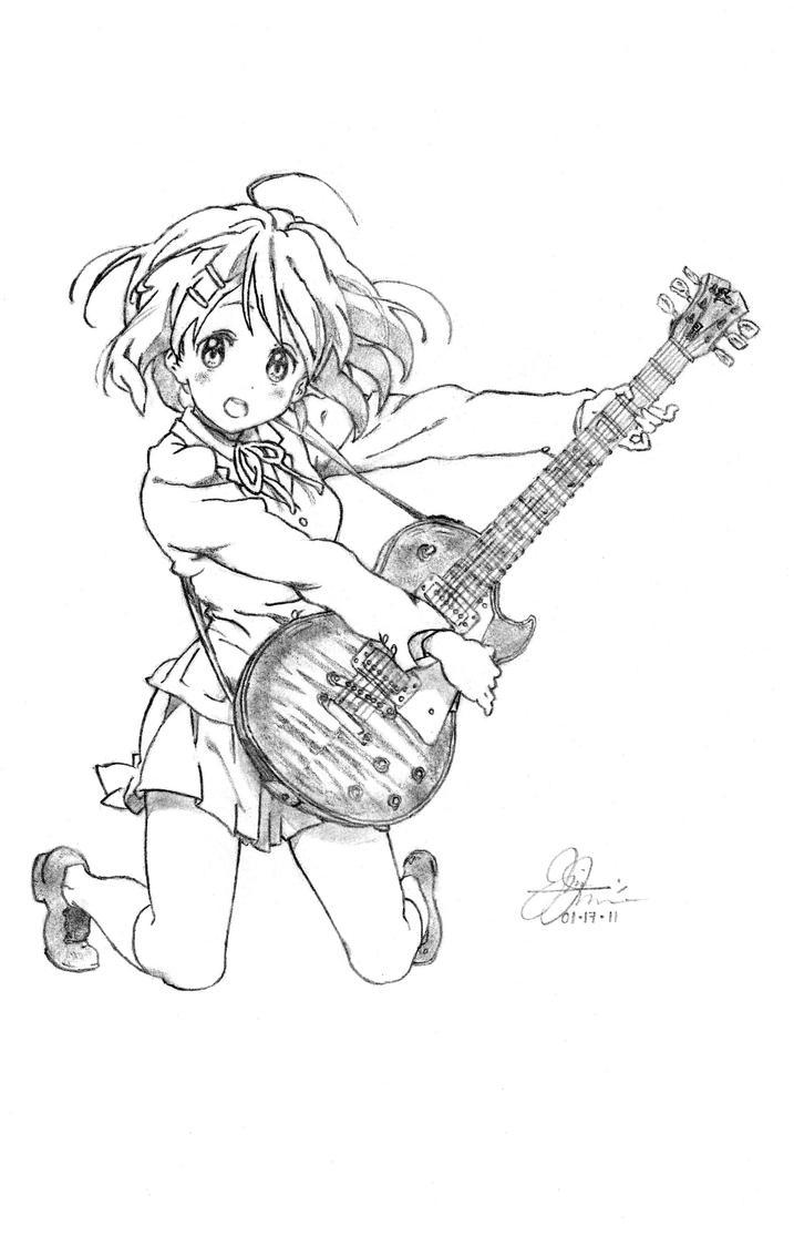 Line Art Hirasawa Yui : Yui hirasawa by revant on deviantart