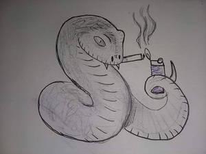 If you give a snake a smoke
