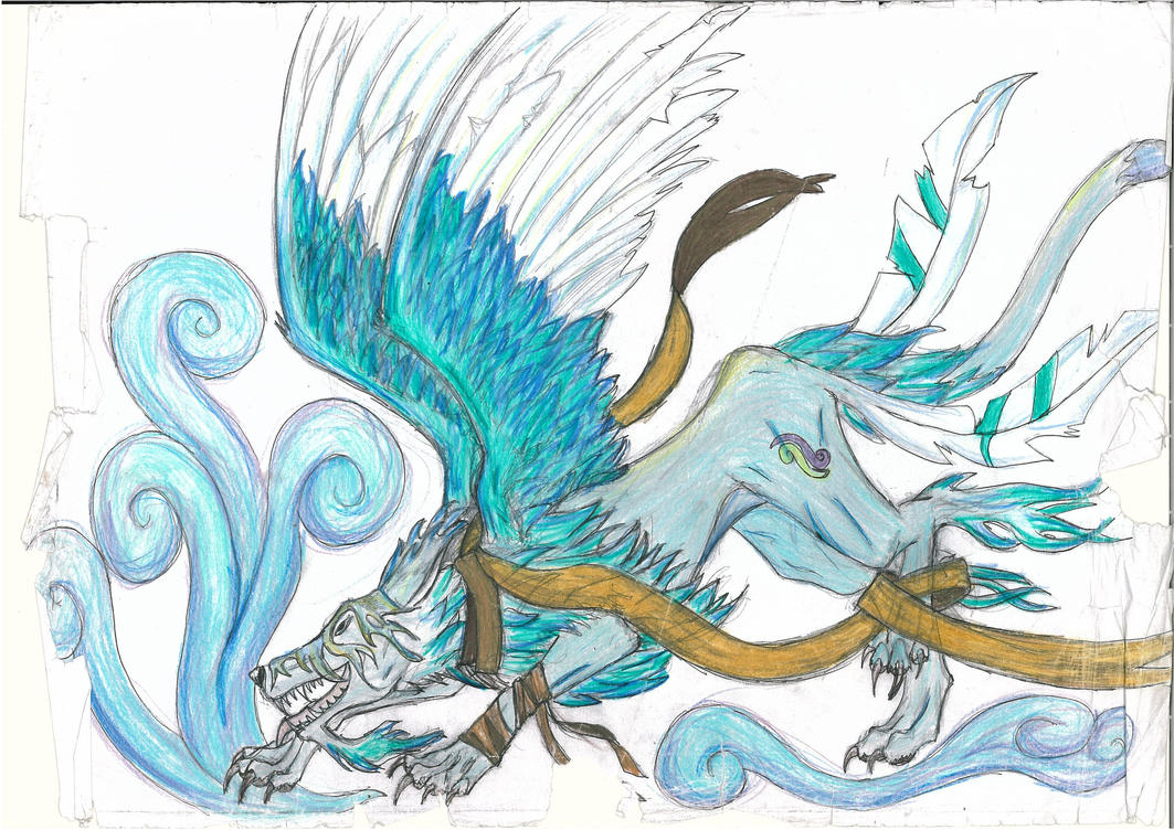 Air element wolf by Neiirix on DeviantArt