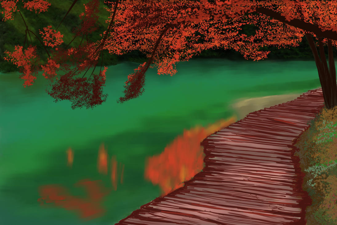 Green lake by RdLArts