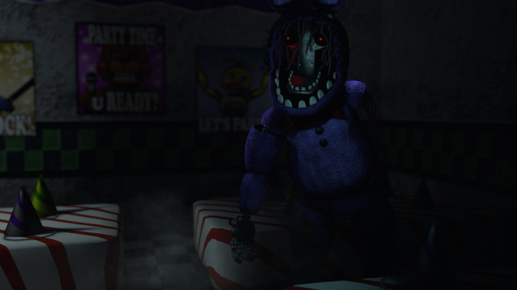 WITHERED BONNIE [WALLPAPER] by AnimDarkness