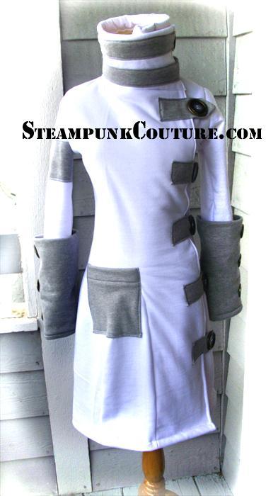 Snowbunny Steampunk Coat by ByKato