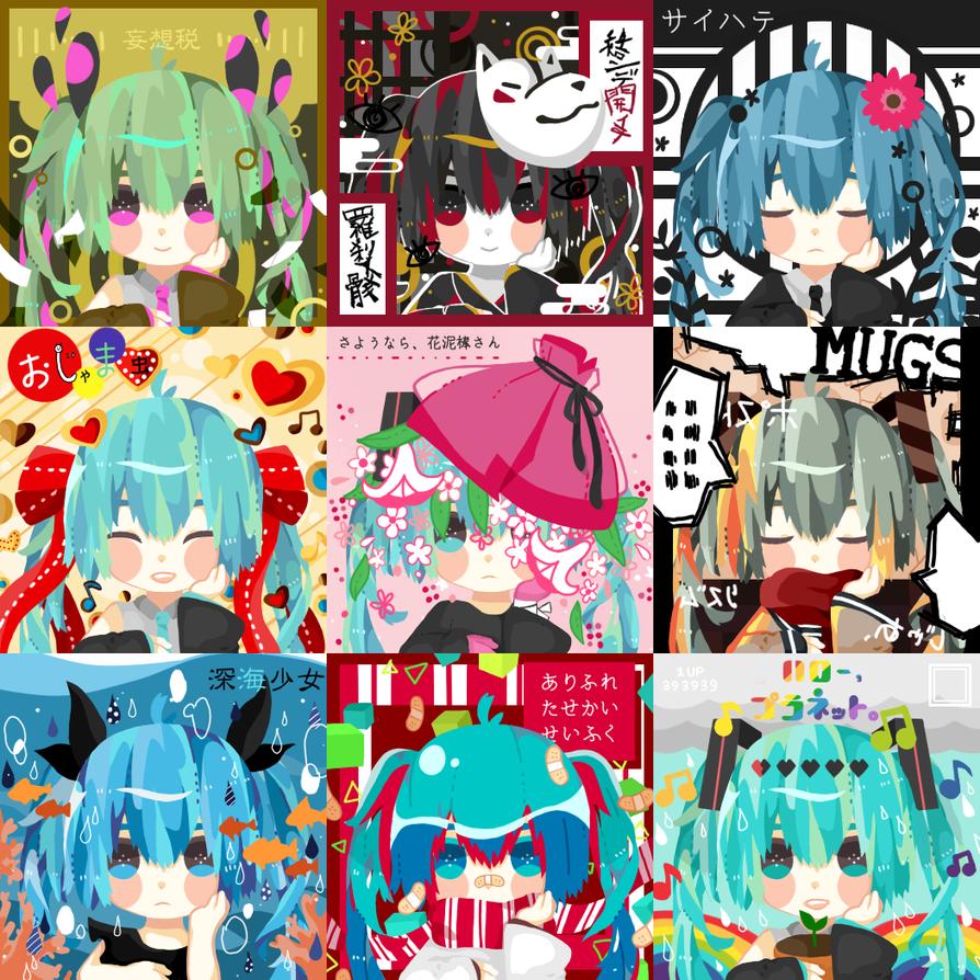 Miku Free Icons 1 by monk-moose