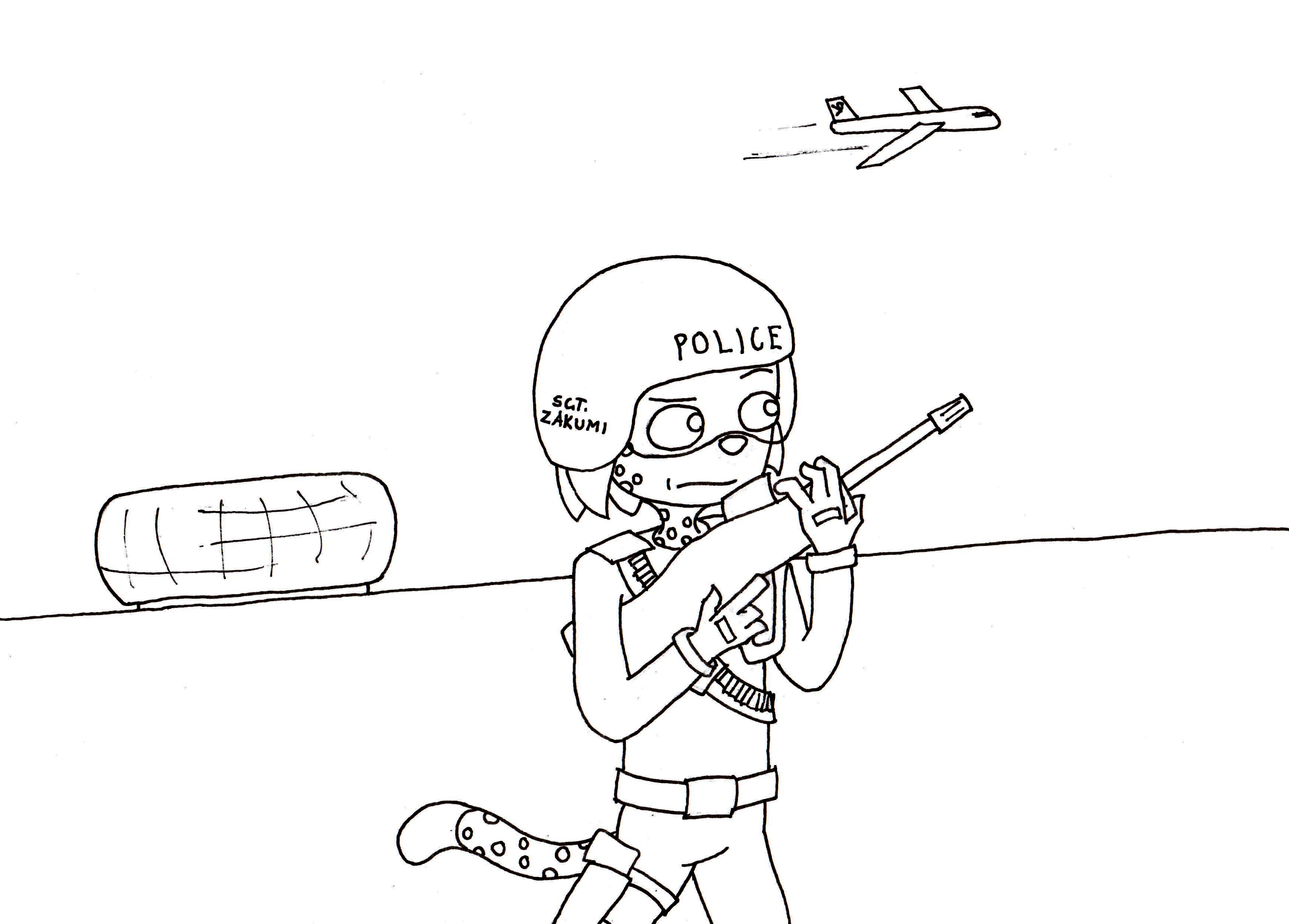 zakumi coloring pages - photo #4