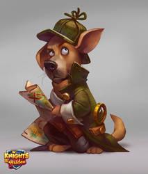 Sherlock dog by LeraStyajkina