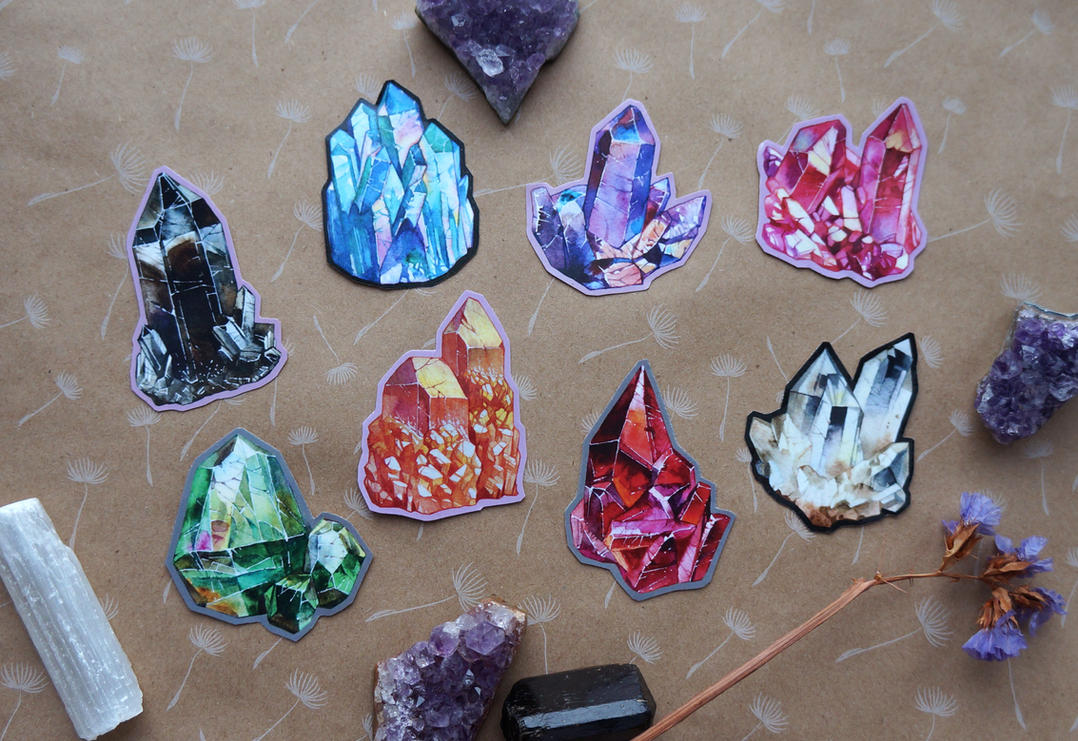 crystal stickers by LeraStyajkina