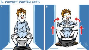 Exercises In A Public Restroom No. 3 by joelduggan