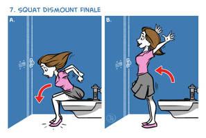 Exercises In A Public Restroom No. 7 by joelduggan