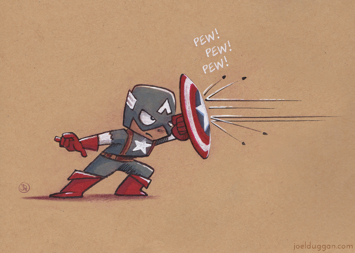 Little Captain America (Print) by joelduggan
