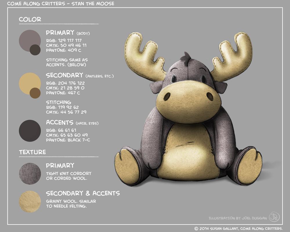 Come Along Critters - Stan The Moose - 3 by joelduggan