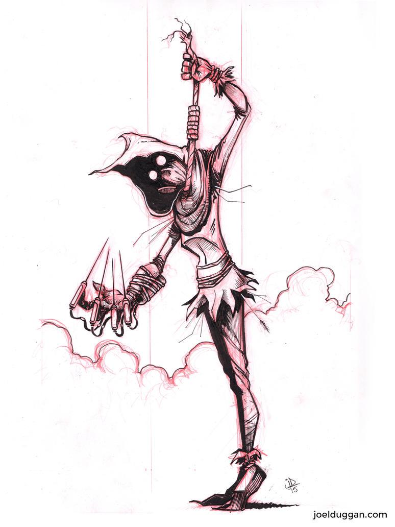 Inktober 2015 No. 3 Scarecrow by joelduggan