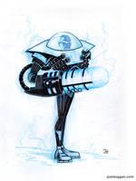 Inktober No. 4 Mr. Freeze by joelduggan