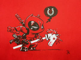 Chibi Hobby Horse Unicorn Deadpool Giddy-up!