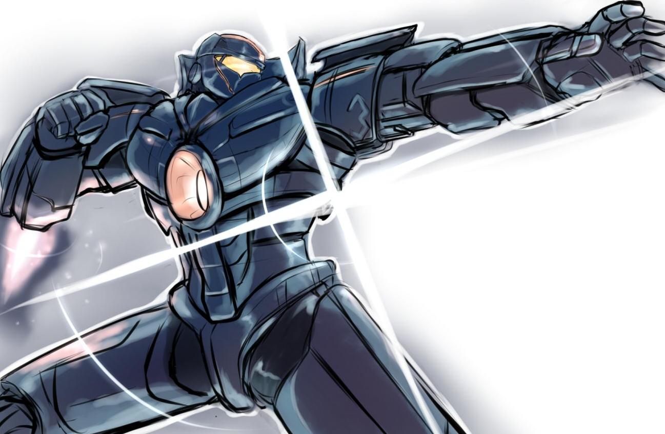 rakugaki Gipsy Danger2 by towamin