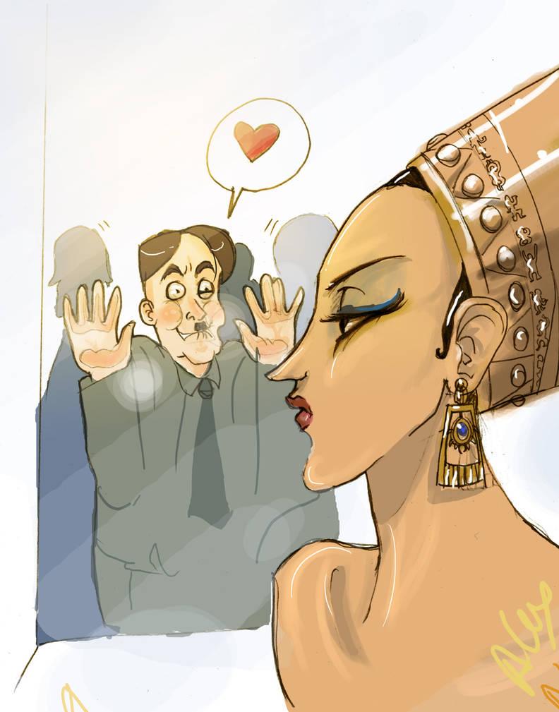 Hitler and Nefertiti by Allysterio