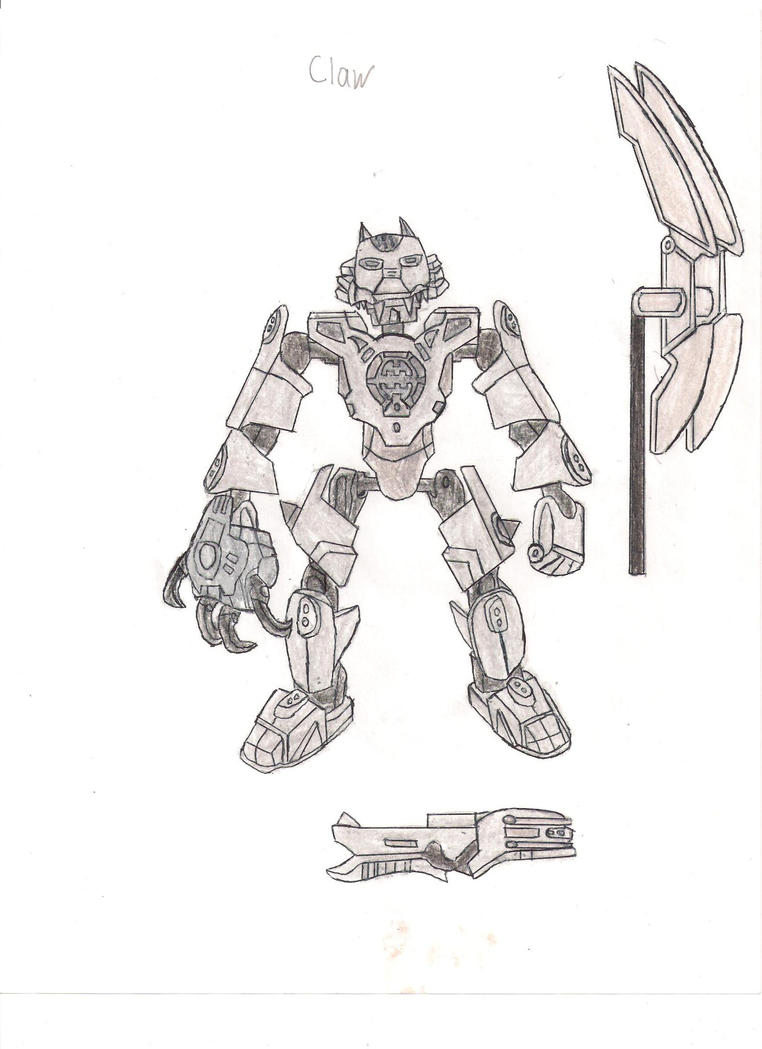 hero factory coloring pages - hero factory rescue force claw by dragonwar23 on deviantart