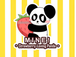 Strawberry-Loving Panda by Kat-Chan1994