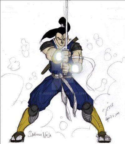 samurai ninja - with flat colors by Jesse077