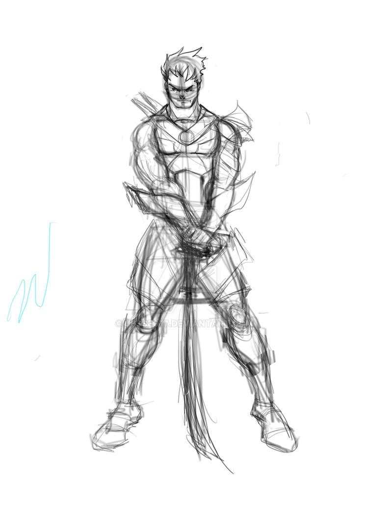 warrior w.i.p. by Jesse077
