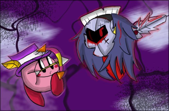 Archer Kirby VS Dark Metaknight by Spythedragon on DeviantArt