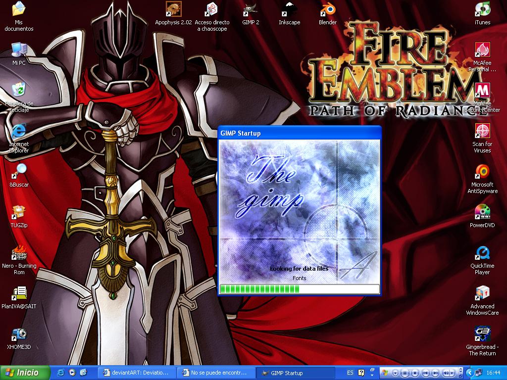 The black knight, desktop by AV-2