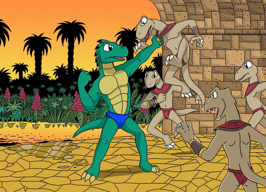 Leebo vs bad lizards by sprucehammer