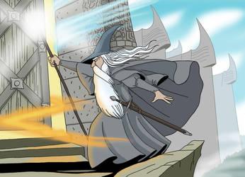 Gandalf at dol guldur by sprucehammer