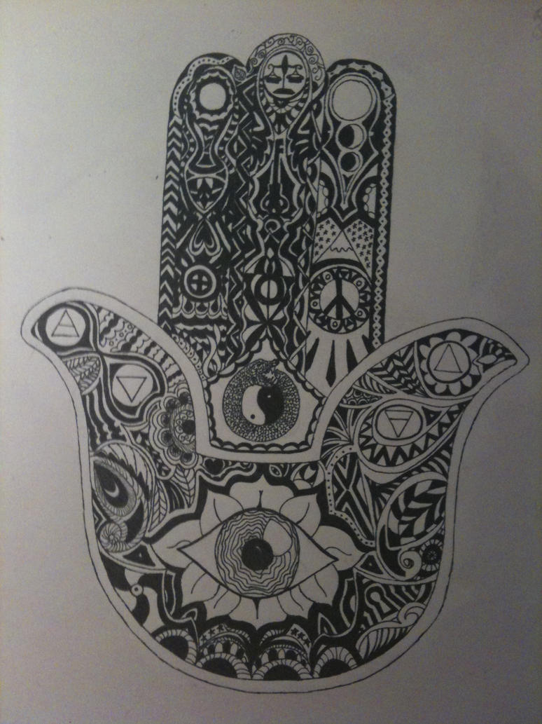Intricate Hamsa Hand Eye Space Tumblr